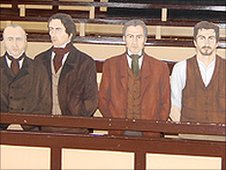 A mock up of the farm labours in Dorchester's old court