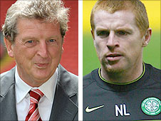 Liverpool manager Roy Hodgson (left) and Celtic boss Neil Lennon