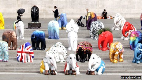 Model elephants in London
