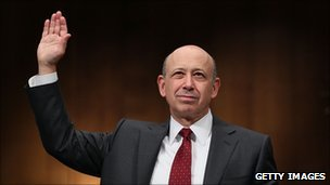 Goldman Sachs CEO Lloyd Blankfein preparing to give testimony to the US Senate