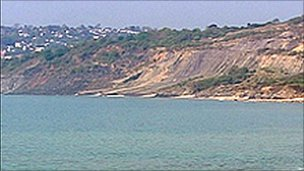 The landslide at Lyme Regis