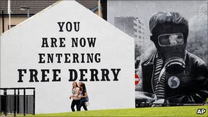The Free Derry mural in Londonderry