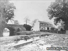 The bridge at Hawford, over the Droitwich canal, pictured in the 1920s