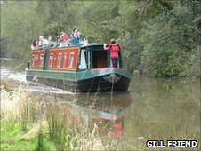 Narrowboat on the Droitwich canal