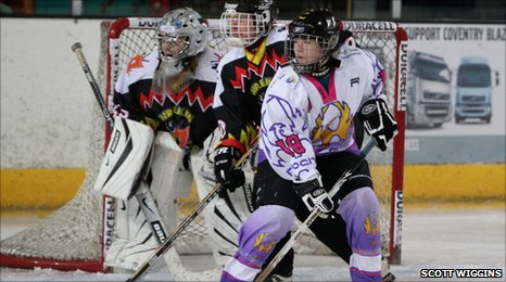 Coventry Phoenix forward, Jenny Adams, in action against Telford