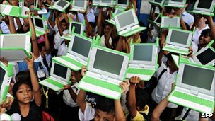 Children with OLPC laptops, AFP/Getty