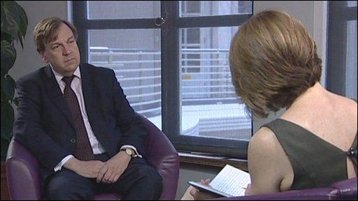 John Whittingdale talking to Etholle George