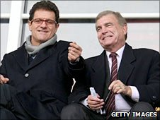 Fabio Capello (left) and Sir Trevor Brooking