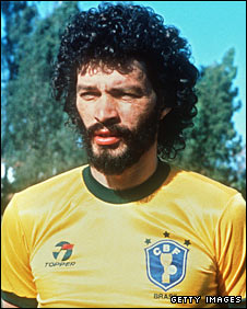 Socrates pictured before the 1986 World Cup in Mexico