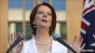 Australian PM Julia Gillard calling a general election - 17 July 2010