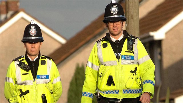 Police on the beat in Wales