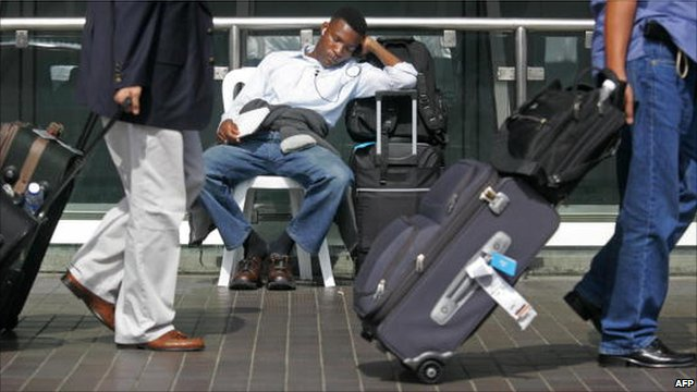 Passenger stranded at the airport