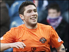 Dundee United player Andis Shala