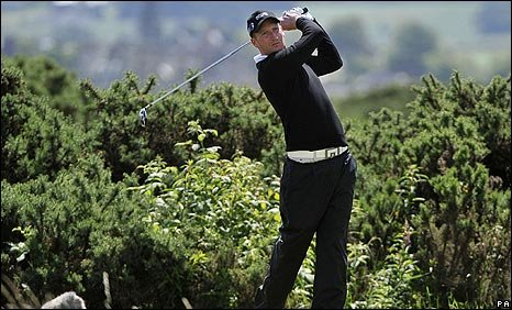 Steven Tiley in action earlier in the Open Championship at St Andrews