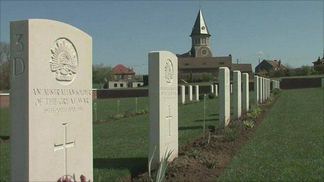 World War I military cemetery