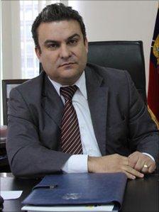 Jose Serrano, Justice Minister, Ecuador