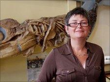 Lyme Regis curator Mary Godwin