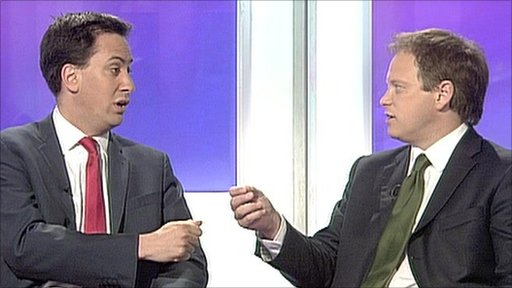 Ed Miliband and Grant Shapps