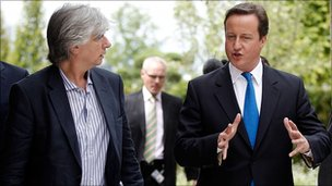 Phil Redmond and David Cameron