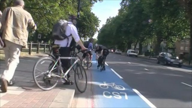 It is hoped the superhighways wil encourage people to cycle in London