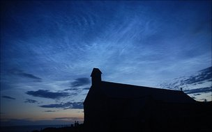 Noctilucent clouds over Anglesey