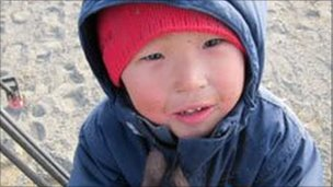 An Alaskan child at the Naluqatak festival in Barrow