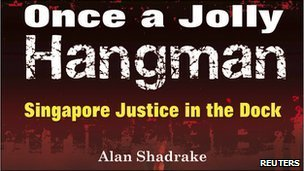 Part of cover of book by Alan Shadrake about death in Singapore