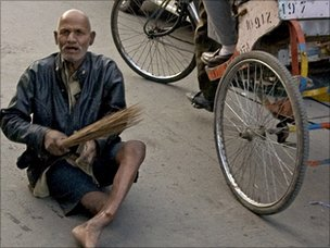 Beggar on Delhi's streets