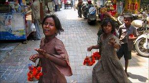 Beggars on Delhi's streets