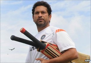 Sachin Tendulkar on his way to an indoor net practice in Galle on 16 July 2010