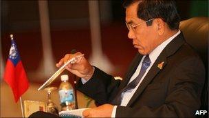 Burma's Foreign Minister Nyan Win