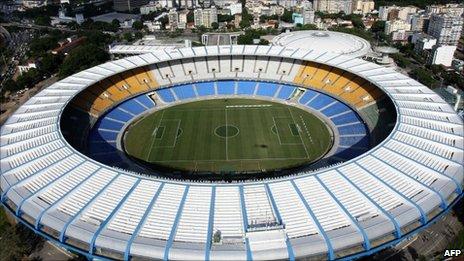 Aerial view of Maracana Stadium, Rio de Janeiro - file photo from 2009