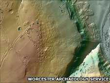 LiDAR image of the Wyre Forest