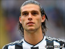 Newcastle United striker Andy Carroll
