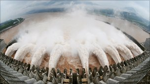 The Three Gorges Dam in Hubei province