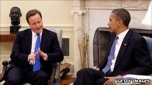 Prime Minister David Cameron meets President Barack Obama
