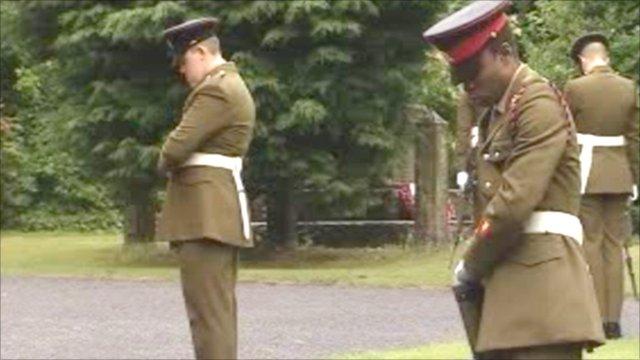 Honour guard at Cpl Jamie Kirkpatrick's funeral