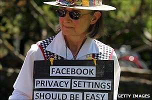 Privacy protester