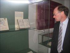 John Wells at Cambridge University Library