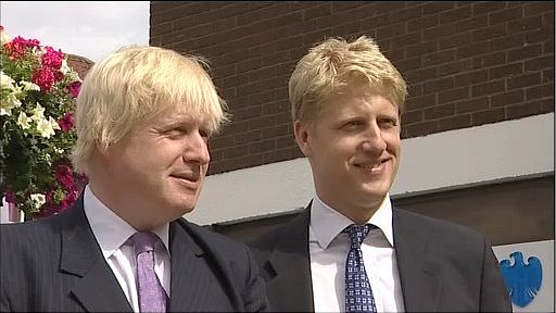 Boris Johnson and his younger brother Jo Johnson
