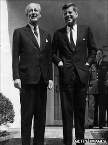 Harold MacMillan and John F Kennedy