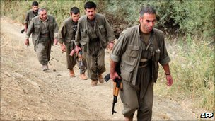 PKK fighters in northern Iraq (28 October 2009)
