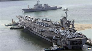 USS George Washington in port at Busan, South Korea