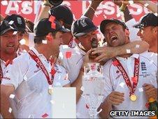 England's Ashes celebrations