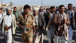 Houthi rebels (file photo from February 2010)