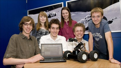 Work experience students and their robot rover