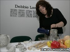 Debbie Lawson making exhibits inspired by  Dundee publishers DC Thomson