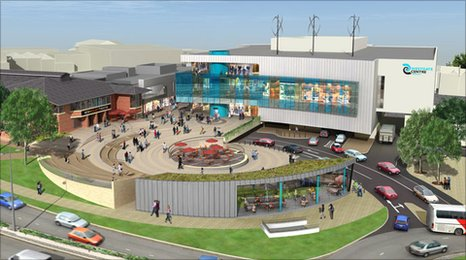 Architect's impression of a completed Westgate Centre