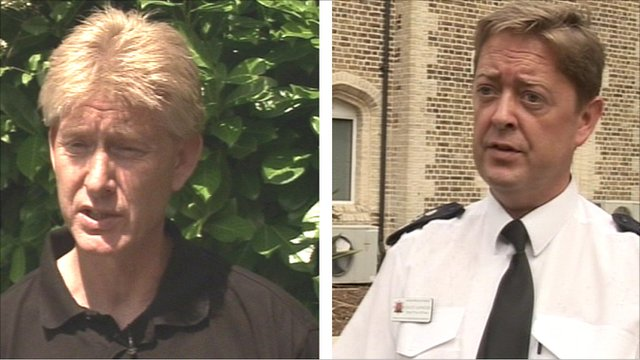 Union leader Paul Adams and Chief Fire Officer David Johnson