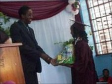 Jehue Gordon at Maraval Primary graduation